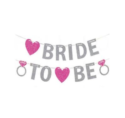 שלט BRIDE TO BE מנצנץ