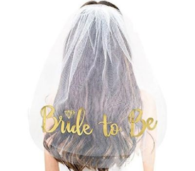 הינומה עם כיתוב BRIDE TO BE-זהב